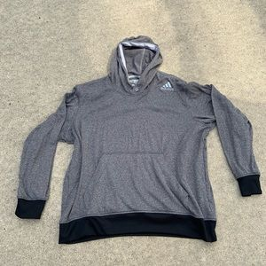 Adidas ultimate hoodie gray black 2xl